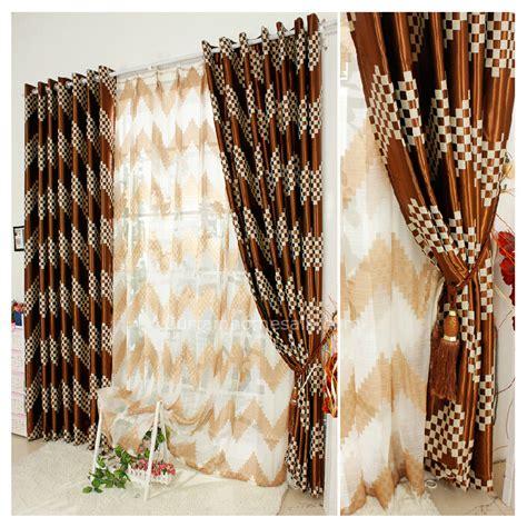 brown plaid curtains brown plaid good quality 2014 new blackout curtains drapes