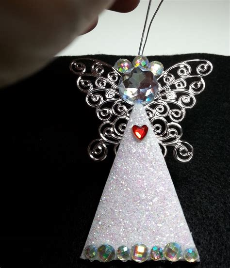 diy easy  gorgeous personalized angel ornaments