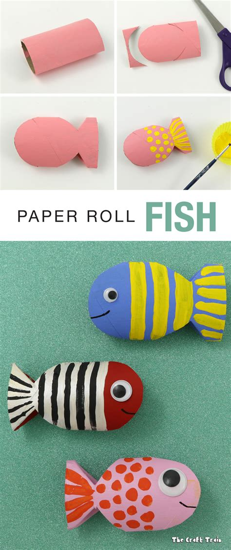 paper roll crafts paper roll fish recycling craft the craft