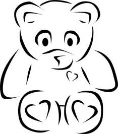 Teddy Outline Images by Teddy Outline Clip At Clker Vector Clip Royalty Free Domain