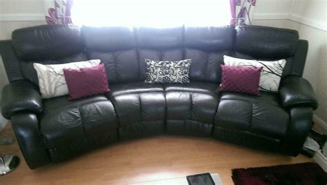 Dfs Sale Sofas by Dfs Curved Sofa And Footstool Reduced For