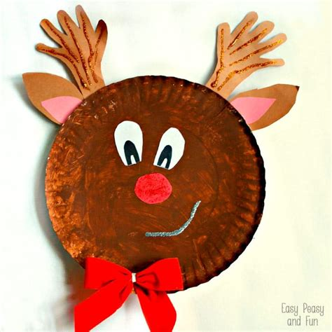 Reindeer Paper Crafts - rudolph reindeer paper plate craft easy peasy and