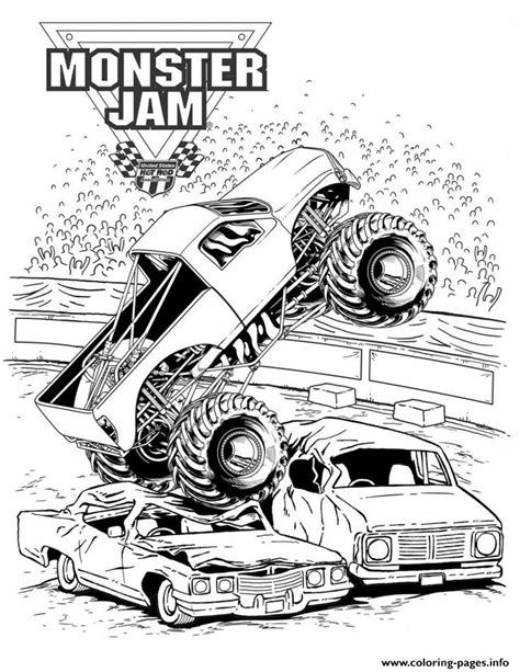 grave digger truck coloring pages grave digger jam truck coloring pages printable