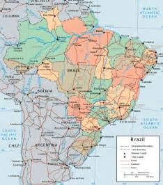 large detailed political and administrative map of brazil