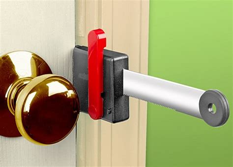Temporary Door Lock From Outside by Zelco Lock Up Portable Door Lock Adds An Barrier To