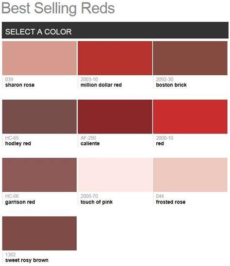benjamin moore best selling colors by room benjamin moore best selling reds 2014 colour pinterest