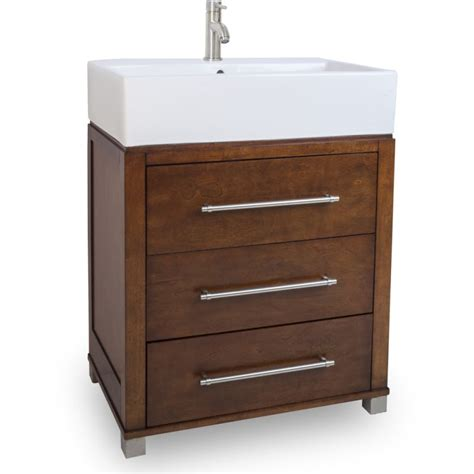 28 Bathroom Vanity With Sink Jeffrey Van097 T Chocolate Briggs Collection 28 Inch Wide Bathroom Vanity Cabinet With