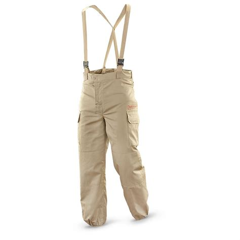 chemical tan used french military surplus chemical pants desert tan