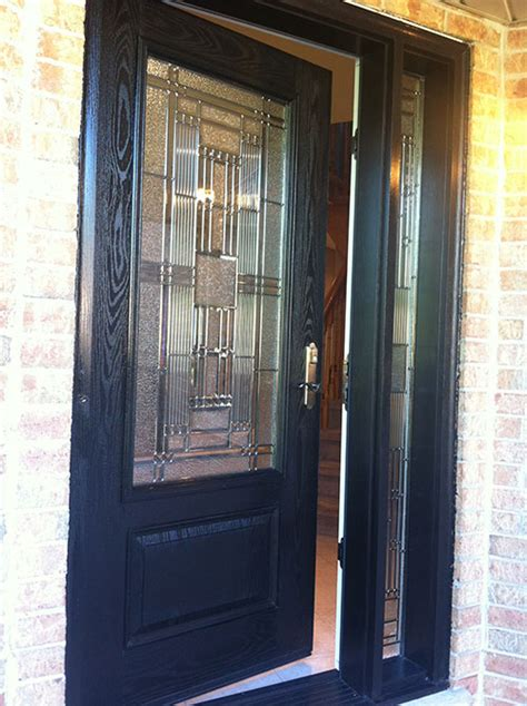 Single Glass Exterior Door Stained Glass Exterior Doors Front Entry Doors