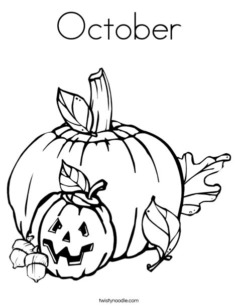 october coloring page twisty noodle