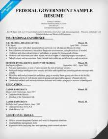 government resume templates exles of resumes professional federal resume format