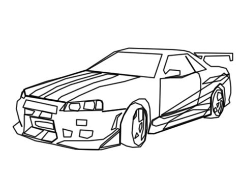 nissan skyline drawing outline nissan skyline free colouring pages
