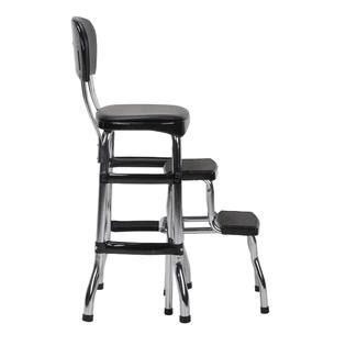 Cosco Black Retro Counter Chair Step Stool by Cosco Home And Office Products Black Retro Counter Chair