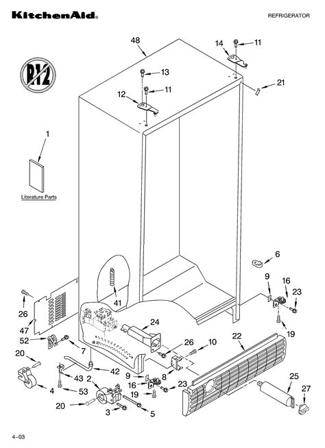 kitchenaid superba refrigerator parts diagram i a kitchenaid superba model number ksc25fk5501 the