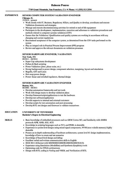 design validation engineer job description validation consultant sle resume public relations agent