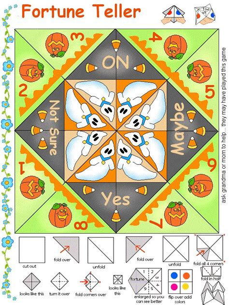 Fortune Teller Paper Craft - 17 best images about paper for on