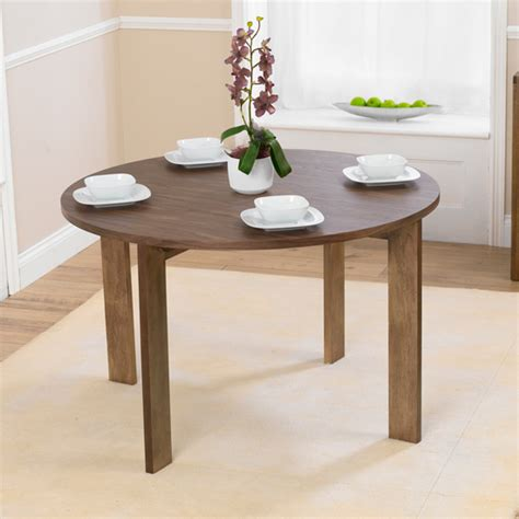 Marbella Round Walnut Dining Table And 4 Cream Bentley Buy Modern Dining Table