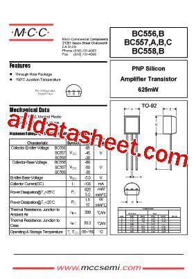 bc5508 transistor bc558 datasheet pdf micro commercial components