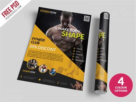 templates bodybuilder for photoshop download health and fitness flyer bundle free psd download