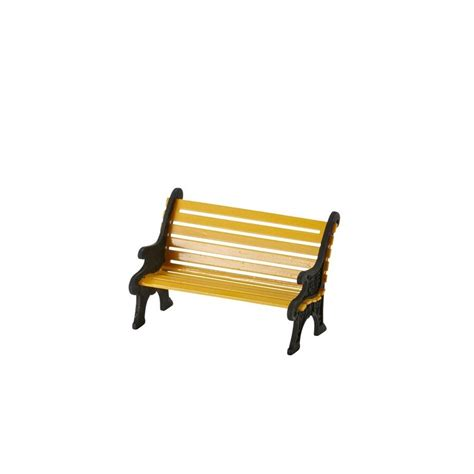 city bench department 56 4025440 city wrought iron park bench yellow