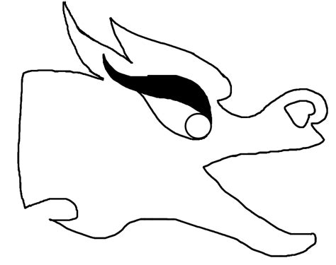 easy dragon head clipart best