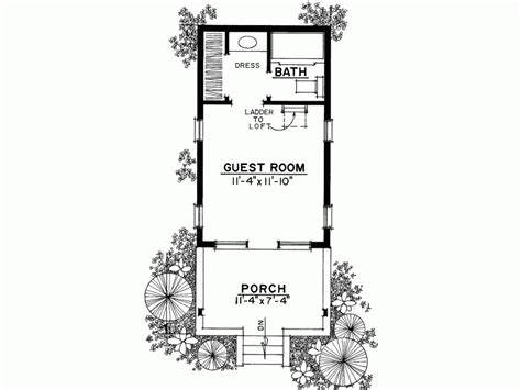 eplans country house plan rustic cottage or guest house - 1 Bedroom Guest House Plans