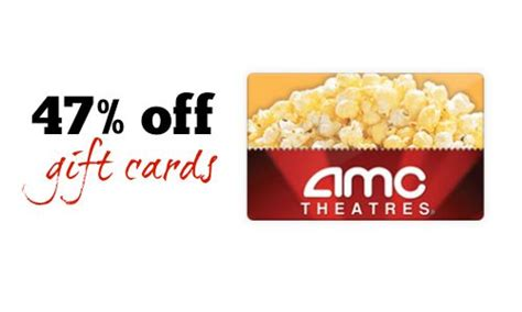 Amc Gift Card Promo Code - amc theaters gift card 47 off southern savers