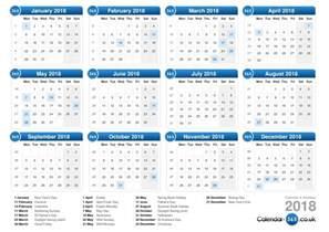 Calendar 2018 Uk Calendar 2018