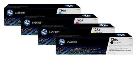 toner printer hp 126 genuine 4 colour hp 126a toner cartridge multipack ce310a