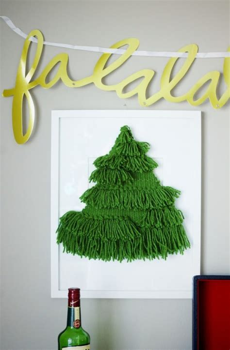 diy woven christmas tree wall hanging shelterness