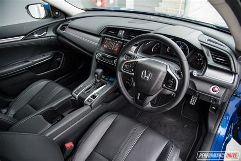 honda civic 2016 interior 2016 honda civic rs turbo review performancedrive