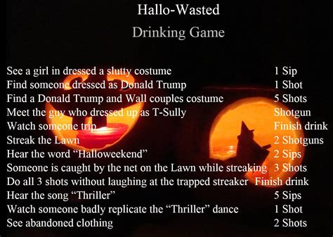 halloween drinking games the uva drunk as hallo wasted in a pumpkin patch