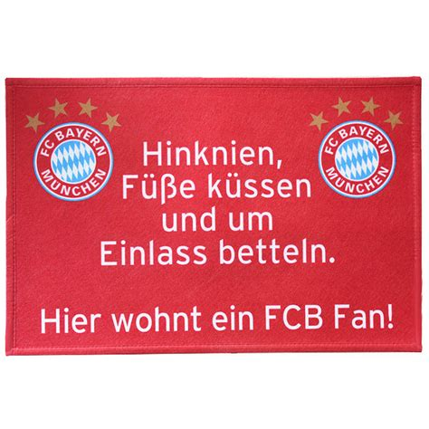 Lustige Bayern Aufkleber by Fc Bayern M 252 Nchen Fussmatte Fcb Fan