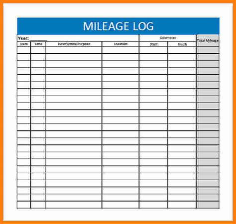 mileage expense template 13 free mileage reimbursement form template ledger paper