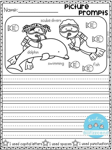 Book Report Worksheet For Kindergarteners by Free Writing Prompt Picture Prompts Writing For