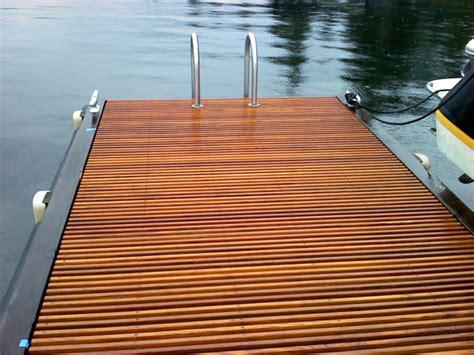 Lake Washington Teak Dock Grating East Teak