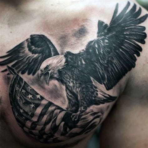 flying eagle tattoo designs 95 bald eagle with american flag tattoos designs with