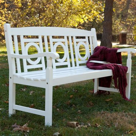painted wooden garden bench barrington 5 ft painted wood garden bench white