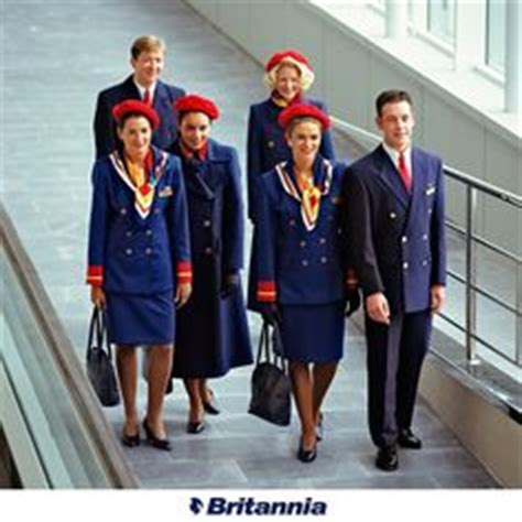 thomson airways crew on airports cabin and wings
