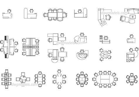patio furniture cad blocks