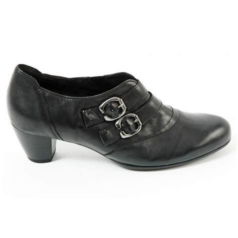 gabor shoes bess leather shoe in black mozimo