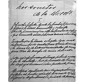 Educarchile  Manuscrito Sonetos De La Muerte Gabriela