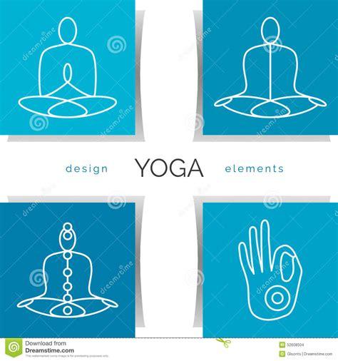 poster design elements vector vector yoga illustration set of linear yoga icons yoga
