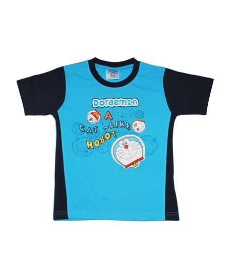Kaos T Shirt Doraemon 3 doraemon printed neck blue cotton t shirt buy doraemon printed neck blue cotton t