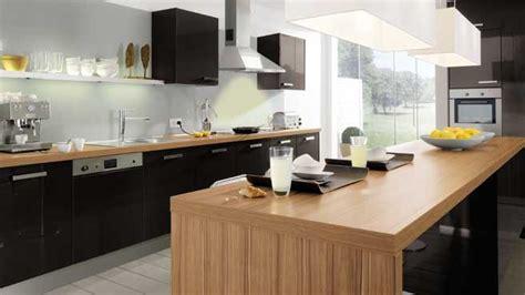 cuisine noir et cuisine ikea noir et bois