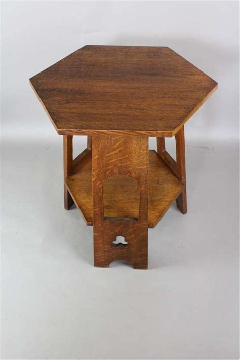 arts and crafts table ls arts and crafts occasional table in quarter sawn oak