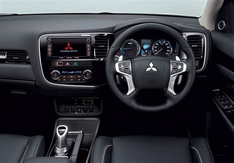 mitsubishi outlander 2016 interior 2016 mitsubishi outlander phev revealed more refined