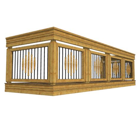 holzkonstruktion balkon balcony set 5 3d model formfonts 3d models textures