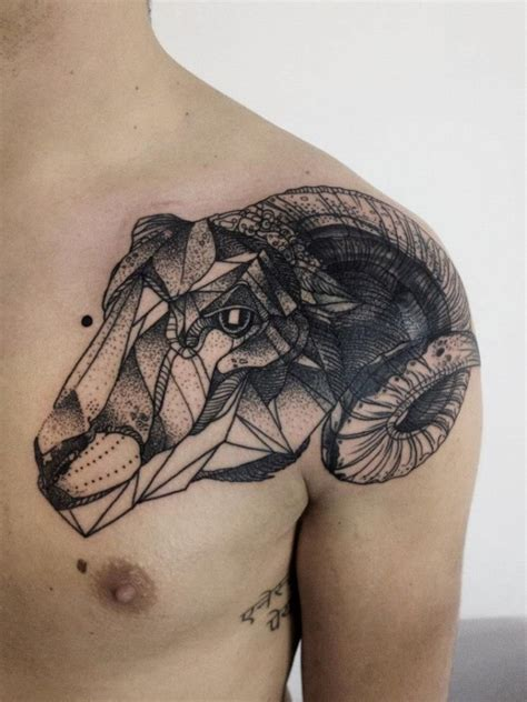 57 Impressive Geometric Shoulder Tattoos Black Tattoos For 2
