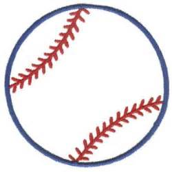 baseball outline embroidery design